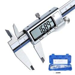 Stainless Steel Digital Caliper All Metal Vernier Caliper Electronic Pachometer High Precision Schuifmaat Measuring Caliber