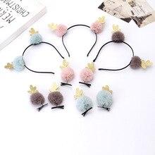 Cartoon hair hoop hair clip antlers plush christmas hair hoop hair clip face wash hair band hair