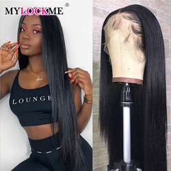 13x4 Lace Front Wig Humain Hair Straight 28 30 Inch Long Wig With Baby Hair Brazilian Smooth 7x7 6x6 Lace Closure Wig For Women