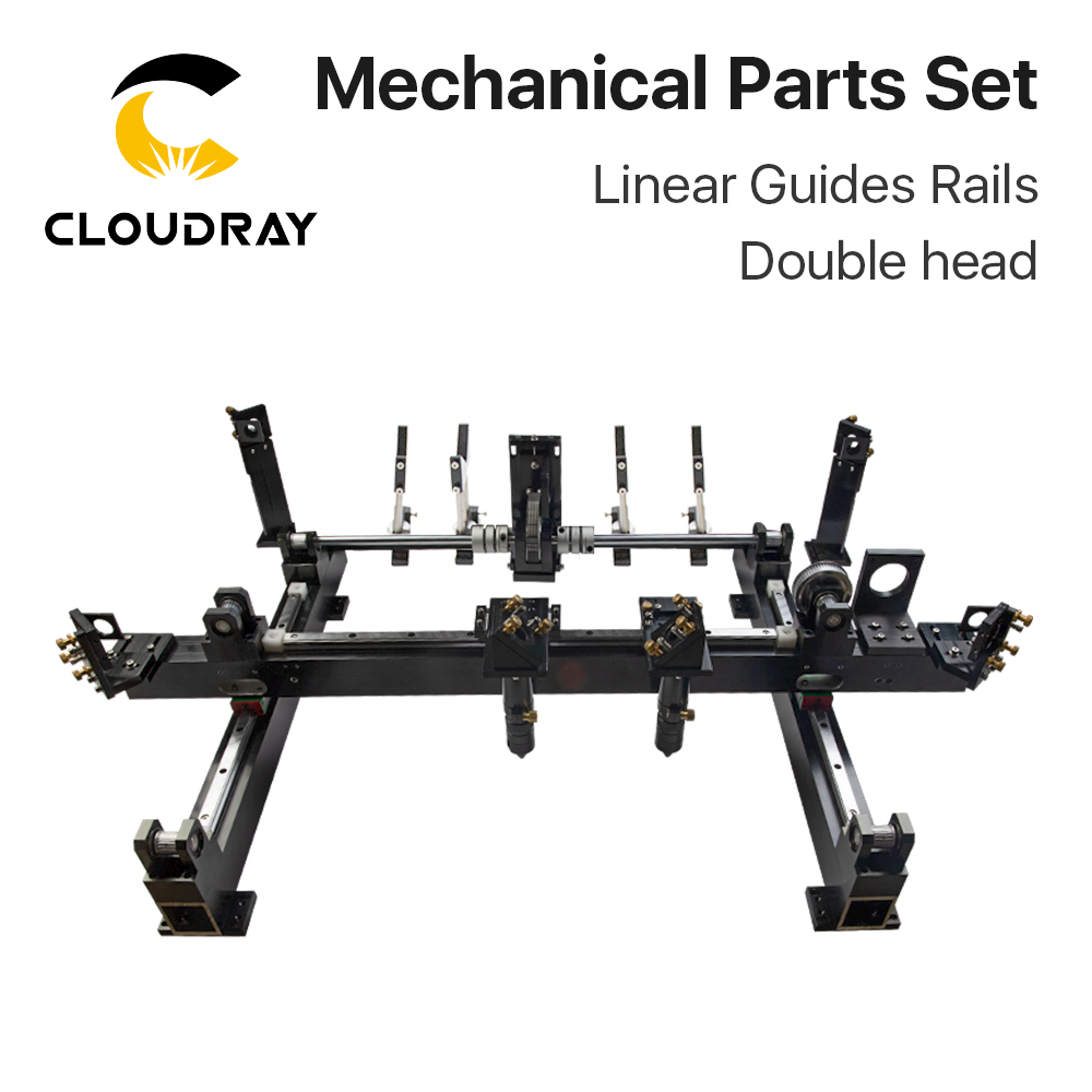 Cloudray Mechanical Parts Set 1300mm*900mm Single Double Head Laser Kits Spare Parts for DIY CO2 Laser 1390 CO2 Laser Machineparts machineparts forparts kit -