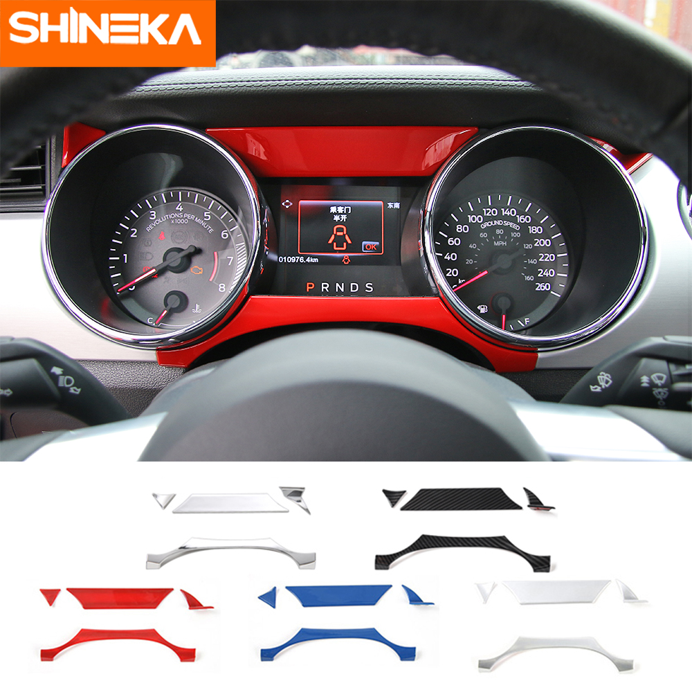 SHINEKA Car Styling Interior Cover Instrument Panel Trim Dashboard  For Ford Mustang 2015+
