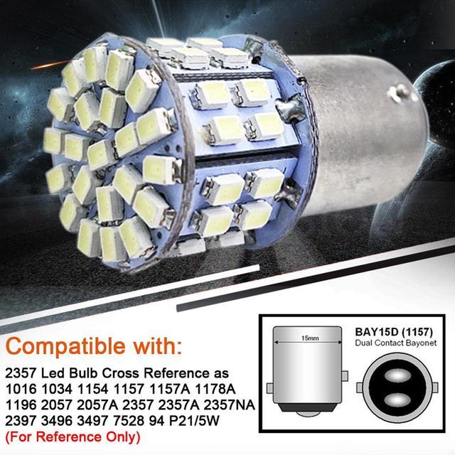 Фото светодиодные лампы 12 w 50 1206smd 1157 bay15d 2057 2357 7528 цена