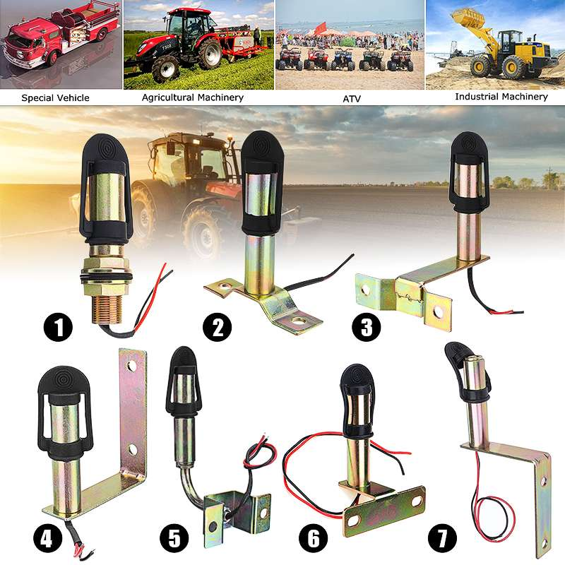 Metal Rotating Flashing Beacon Mount Warning Light Bracket Flexible Stem DIN Pole Tractor Mounting Light