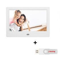 Marco de fotos Digital de 7 pulgadas, pantalla LCD, vídeo de 1024P, música, foto, rotación automática, Show deslizante, rotación automática, Show deslizante, Control remoto