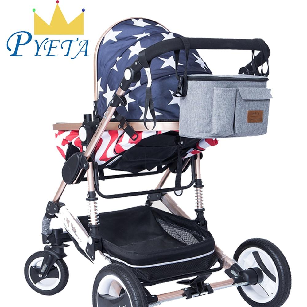 PYETA Baby Stroller Bag Diaper Organizer,Maternity Mummy Bag Baby Waterproof Diaper Bag,Nappy Bags With Large Capacity