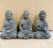 الاسمنت بوذا تمثال النحت اليدوية تمثال شاكياموني بوذا زن التأمل خزان الأسماك الجنينة ديكور المناظر الطبيعية