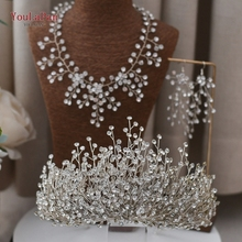 YouLaPan Silver Bridal Headpiece Rhinestone Wedding Headband Wedding Hair Vine Headband Bridal Crowns and Tiaras HP193P-S great gatsby daisy crystals pearl tassels silver wedding bridal pearl tiaras and crowns wedding party hair hoop headbands