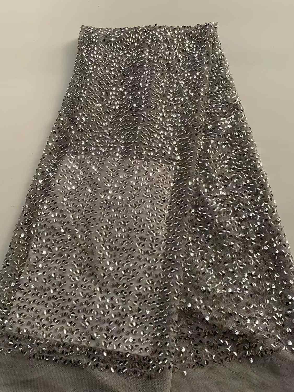 Nigérian bleu ciel paillettes dentelle tissu de haute qualité africain 3D Net dentelle tissu mariage français Tulle dentelle matériel pour robe FD121