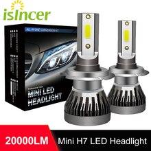 1 Pair H7 Led Car Headlight Bulb Kit 100W 20000LM Pure White H7 Bulbs 6000K 12V Headlamps Auto Fog Head Lamp Car Lights