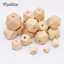 купить 10mm/12mm/14mm/16mm/18mm/20mm/25mm/30mm Wood Beads Loose Spacer Geometric  Beads Jewelry For Handmade DIY Wooden Necklace онлайн