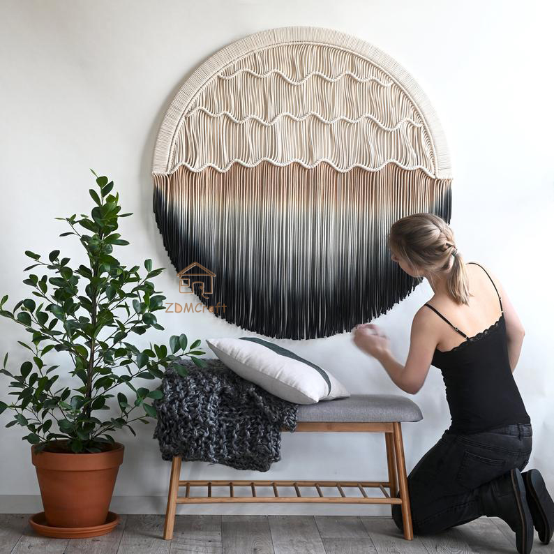 Round tapestry Nordic hand-woven tapestry bohemian living room bedroom hanging pictures room decor decoracion habitacion