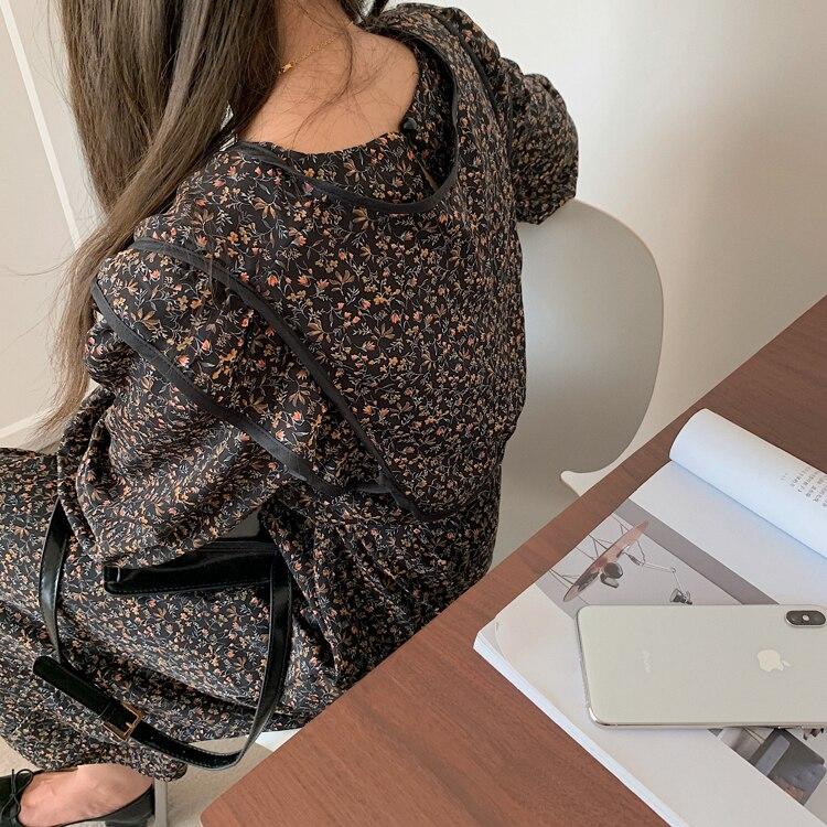 H77ac483b9eda4763ae61d15c1acbd1b6l - Autumn O-Neck Long Sleeves Chiffon Floral Print Midi Dress