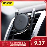 Baseus-soporte magnético de teléfono para coche, organizador de cables de Cable para ventilación de aire con Clip, rotación 360, para Samsung Xiaomi
