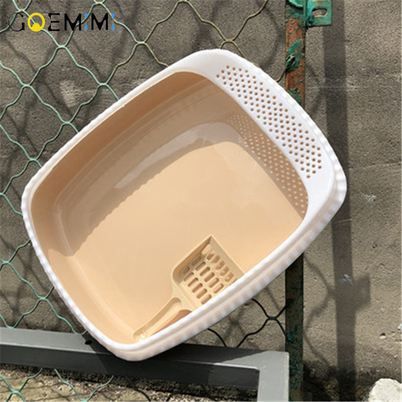 Semi-enclosed Toilet Bedpan Cat Top Quality Pet Cat Toilet Detachable High Fence Self Cleaning Cat Litter Box(China)