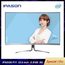 IPASON All-in-one Gaming Desktop 23.6 inch Computer Intel i3 8100 8G DDR4 RAM 24