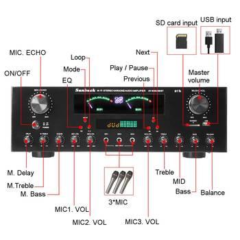 Усилитель мощности SUNBUCK AV-999BT, 7-канальный, Bluetooth, FM, USB, SD 2