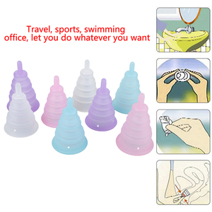 Foldable Medical Grade Silicone Menstrual Cup Feminine Hygiene Reusable Women Health Period Cup Menstrual Lady Cup