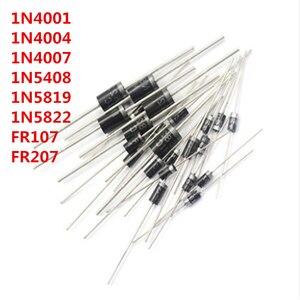 100PCS/LOT 1N4001 1N4004 1N4007 1N5408 1N5819 1N5822 FR107 FR207 DO-41 Rectifier Diode