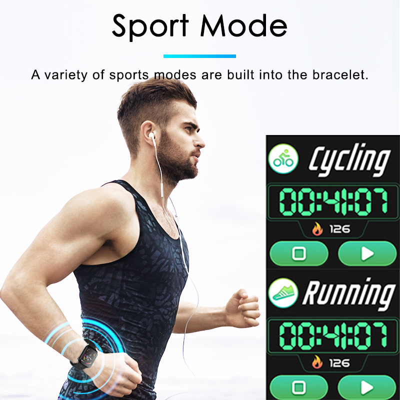 F9 s PK iwo8 b57 Touch Screen smart watches to Monitor Heart rate and Blood pressure Supported for IOS Android for men women 3