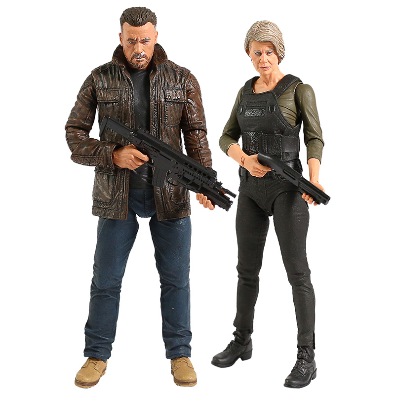 NECA Terminator 6 Dark Fate Old T-800 / Sarah Conner Action Figure Collectible Model Toy