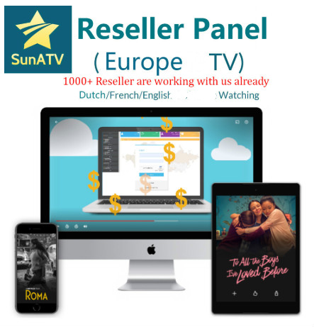 SUNATV Reseller Panel Netherland IPTV Arabic ENGLISH Support Android M3u Enigma2  7000 Live+XXX