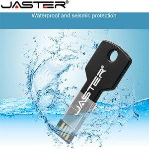 Image 5 - JASTER מתכת מפתח צורת USB דיסק און קי זיכרון Stick keychain pendrive 4gb 8gb 16gb 32gb 64gb U דיסק מתנה (מעל 10 PCS משלוח לוגו)
