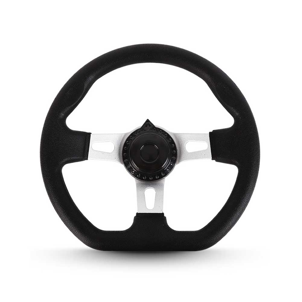 270mm Steering Wheel Universal Hardware Durable PU Foam Interior Replacement For Go Kart Vehicle Accessories 3 Spokes Classic