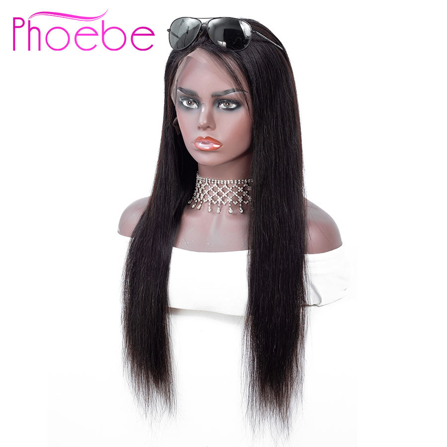 Phoebe Hair 13x4 Lace Front Human Hair Wigs Pre Plucked For Black Women Remy Brazilian Straight