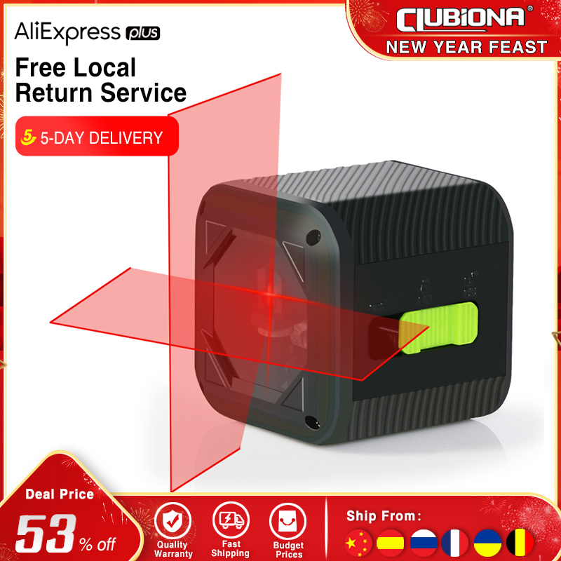 Clubiona 2021 New 2 Lines Laser Level Self leveling Green and Red Beam Horizontal and Vertical Cross Line with Magnetic Bracket Laser Levels  - AliExpress