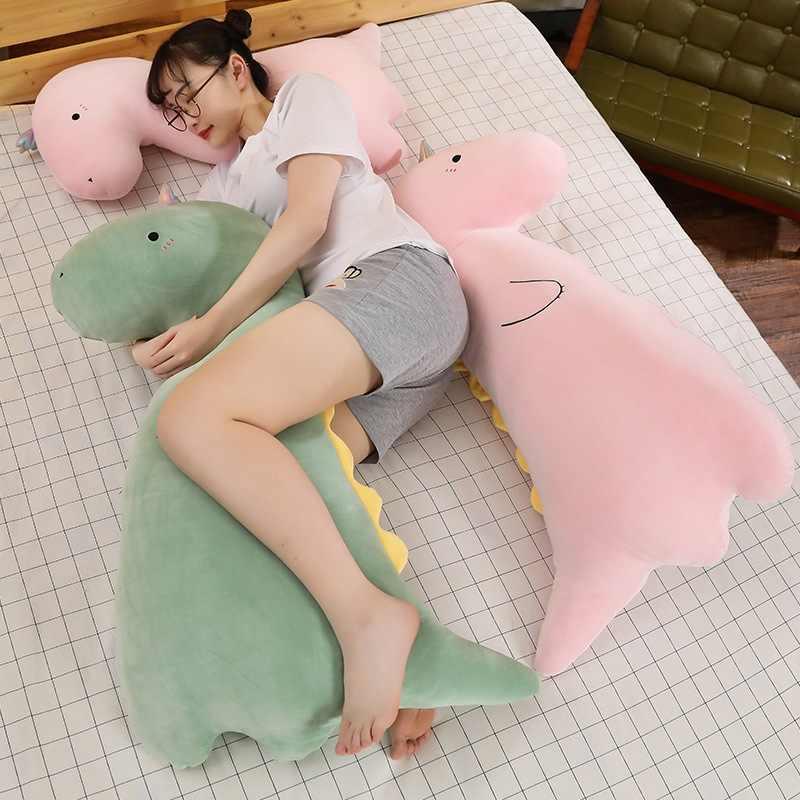 Gorący Super miękki dinozaur pluszowa poduszka zabawka nadziewane kreskówka zwierząt krokodyl lalka poduszka do drzemki wysokiej jakości dziewczynek prezent urodzinowy
