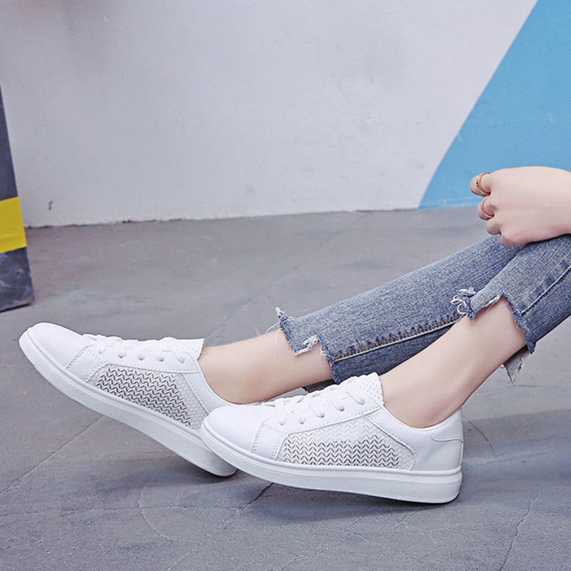 Sneakers Women Breathable Mesh Summer Autumn Women Causal Shoes Fashion White Leather Flat Walking Female Vulcanize Shoes VT1247 (25)