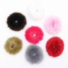 Модные эластичные милые повязки для волос из искусственного меха, мягкие головные уборы, аксессуары для волос, подарок для женщин, девочек, детей