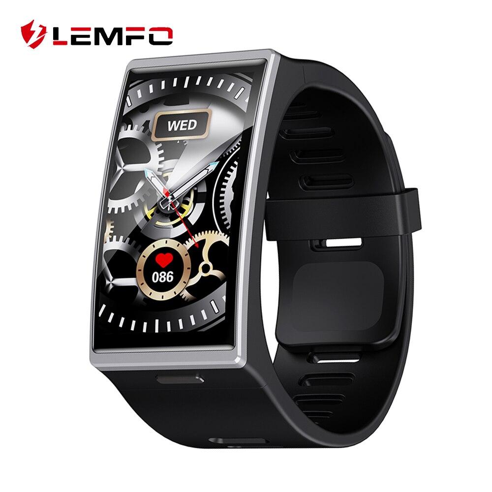 LEMFO DM12 2.5D curva de 1,91 pulgadas de pantalla grande reloj inteligente Resolution170 * 320 Fitness Tracker BT5.0 de Smartwatch para los hombres