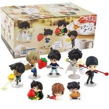 8 Stuks 5Cm Detective Conan Cijfers Shinichi Kudo Ran Mouri Heiji Hattori Ai Haibara Bourbon Furuya Rei Akai Shuuichi model Speelgoed