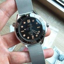 Completa de aço inoxidável qualidade superior aaa relógio mecânico automático OMG-007 james bond 1:1 moldura cerâmica masculino relógios pulso presentes