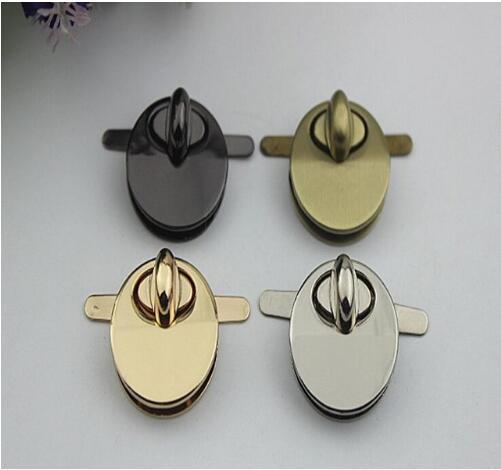 (10 Pcs/lot) 4 Color Diy Craft Leather Handbags Circular Die Casting Twist Lock Hardware Accessories