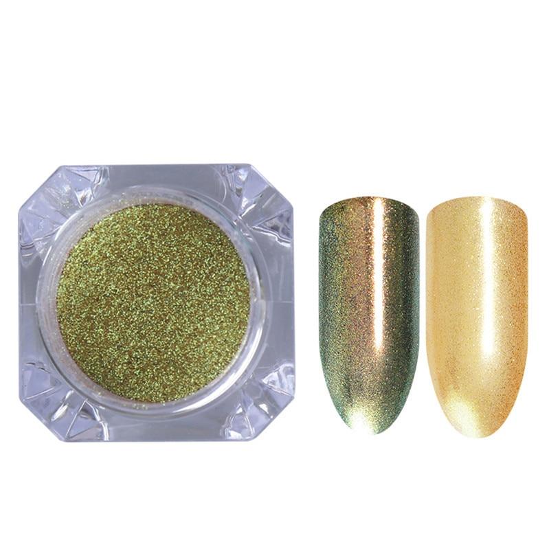 1 коробка жемчужный блеск для ногтей порошок зеркальный матовый эффект блеск Лазерная пыль Маникюр мерцающий пигмент украшение для ногтей - Цвет: 4