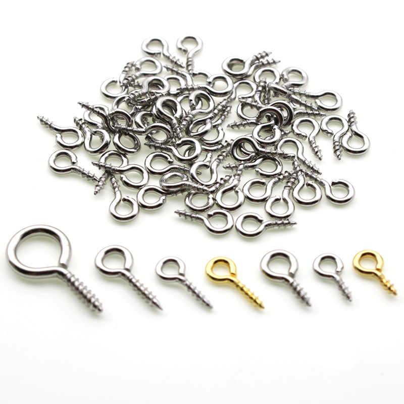 Lot Size Screw Eye Pins Eye pins Hooks Eyelets Threaded  Tiny Mini Eye Pins