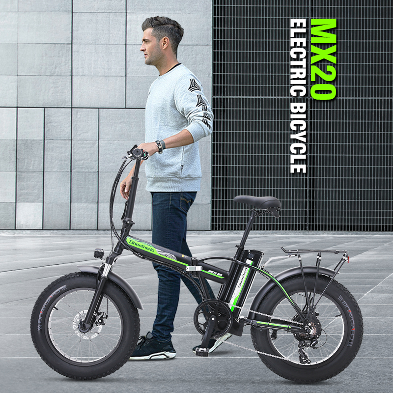 Electric Bike 500W4.0 Fat Tire Electric Bicycle  Beach Cruiser Bike Booster Bike 48v Lithium Battery Folding Mens Women's ebike 3