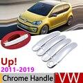 Для Volkswagen VW Up! E-Up! До 2011 ~ 2019 хромированные дверные ручки крышки автомобильные аксессуары наклейки отделка Набор 2012 2013 2014 2017 2018