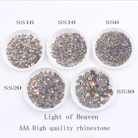 Big packGlass shinny Crystal rhinestone SS6 SS30 Light of heaven A++ High quality with glue base rhinestone for Diy clothes bags