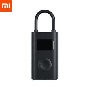 Image 1 - Le plus nouveau Xiaomi Mijia Portable intelligent numérique détection de pression des pneus pompe de gonflage électrique pour vélo moto voiture Football