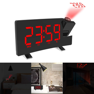 Image 5 - FM Radio Alarm Clock with time Projection Temperature Electronic Table Watch Bedside Desk Projector watch nixie Digital Clock