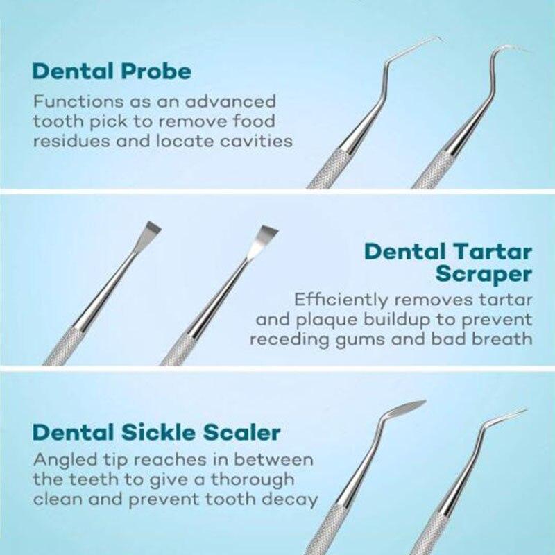 1 conjunto multi-função dental kit de aço