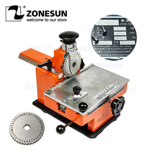 ZONESUN máquina de repujado Manual de acero para bombas válvulas de grabado aleación de aluminio de Metal Placa de nombre estampado, herramienta de grabado de etiquetas