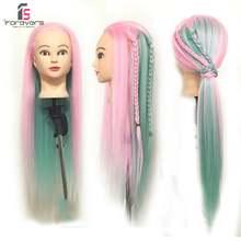 Парикмахерская Цветные волосы практика манекен голова куклы