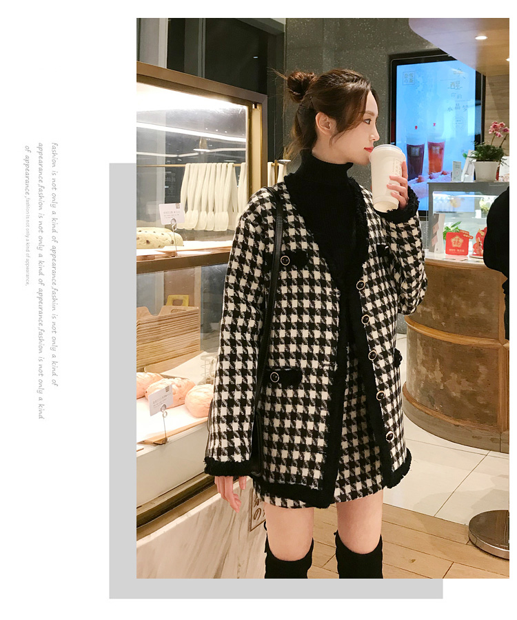 H77ae5a6928bb450e9fb28962c2ff2824C - Houndstooth Vintage Two Piece Sets Outfits Women Autumn Cardigan Tops And Mini Skirt Suits Elegant Ladies Fashion 2 Piece Sets