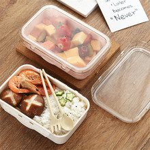 800ml Wheat Straw Lunch Box Healthy Material Bento Boxes Microwave Dinnerware Food Storage Container Lunchbox