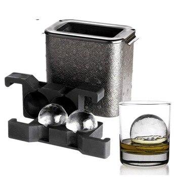 Fabricante de bolas de hielo cristalinas, bola de hielo, bandeja esférica de whisky, molde para helado para fiesta, molde de cubo de hielo
