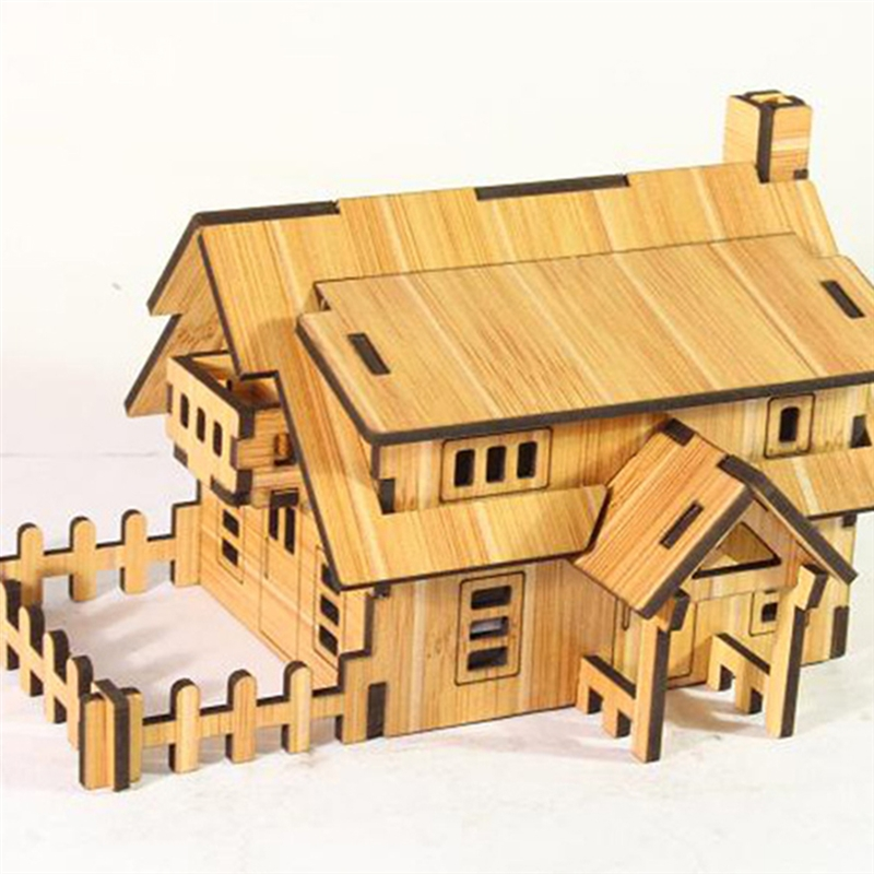 3D Puzzles British Villa DIY Creative Gift Educational Toys Wooden Handmade Toys For Children Birthday Gift